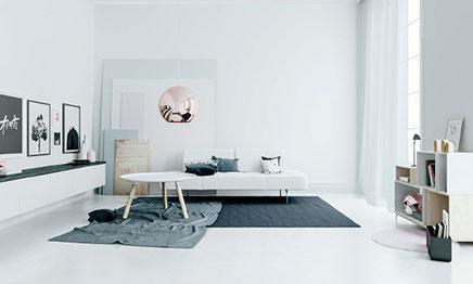 3D Design von einem Design Wohnzimmer | Wohnideen einrichten