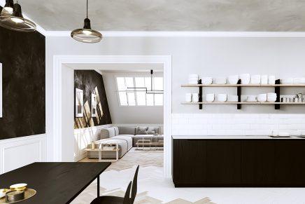3d Designs Einer Modernen Klassischen Wohnung Wohnideen Einrichten