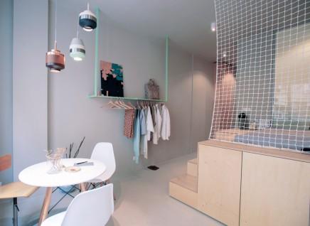 Underlayment In Badkamer : Moderne kleines studio apartment von 30m2 wohnideen einrichten