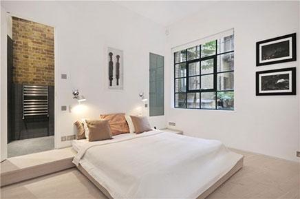 Schlafzimmer alten Lagerhaus-Wohnung in London (3)