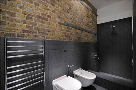 Schlafzimmer alten Lagerhaus-Wohnung in London (4)