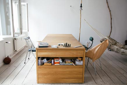 Schreibtisch-Bett-Kombination2