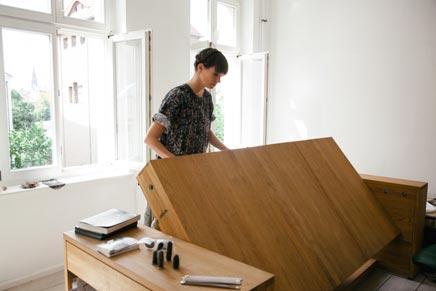 Schreibtisch-Bett-Kombination6