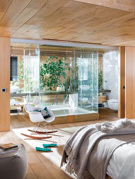Transparente Schlafzimmer Loft in Barcelona