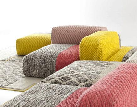 Wolle Modul Sofa von Patricia Urquiola