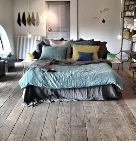 Atmosphärische gelebte Schlafzimmer