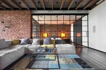 attraktive-industrie-loft-schlafzimmer (5)
