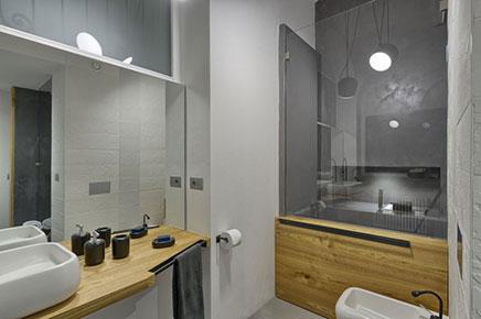 Badezimmer mit Beton, Beton und Holz cire | Wohnideen einrichten