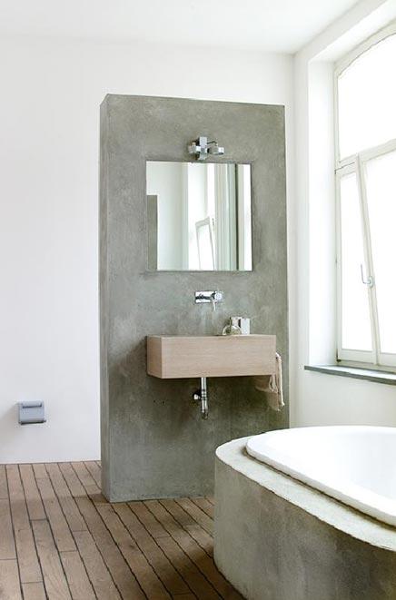Badezimmer mit betonoberfl chen wohnideen einrichten for 16m2 zimmer einrichten