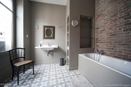 Badezimmer Design mit einer Mauer   Wohnideen einrichten