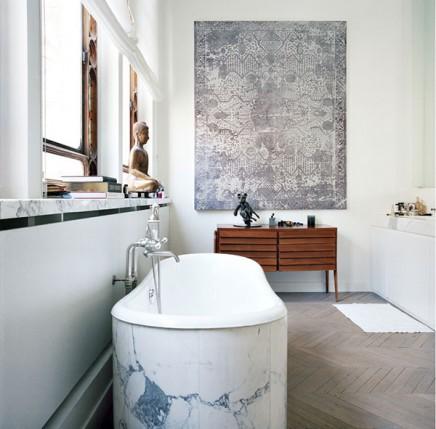Badezimmer des schwedischen ex model cecilia br nstr m wohnideen einrichten for Badkamer model