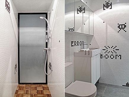 Badezimmer mit Space invader