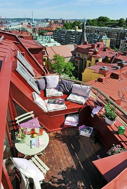 Balkon Inspiration aus einer Sommer Wohnung Swedish