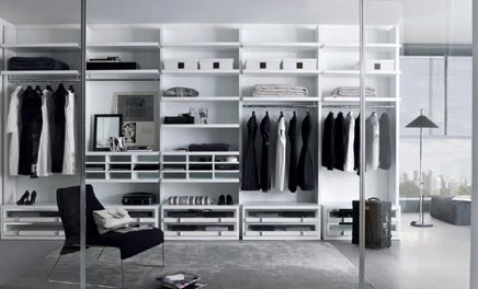 begehbaren kleiderschrank von millimetrica wohnideen. Black Bedroom Furniture Sets. Home Design Ideas