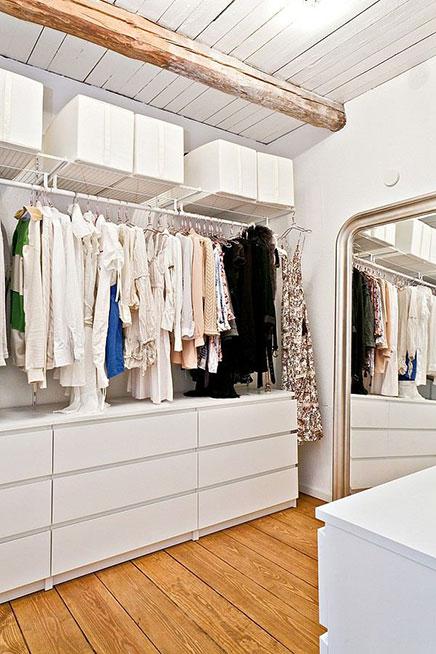 Begehbarer kleiderschrank inspiration aus Schweden