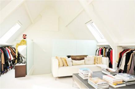 Begehbarer kleiderschrank suite im Dachgeschoss