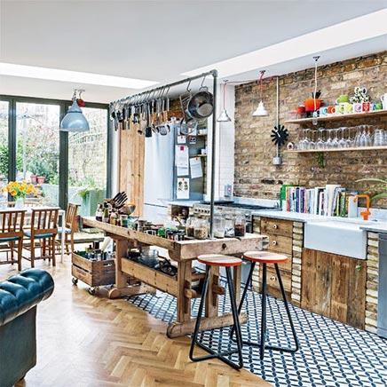 Beiläufig industrielle küche aus London