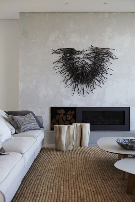 betonstuc wand wohnideen einrichten. Black Bedroom Furniture Sets. Home Design Ideas