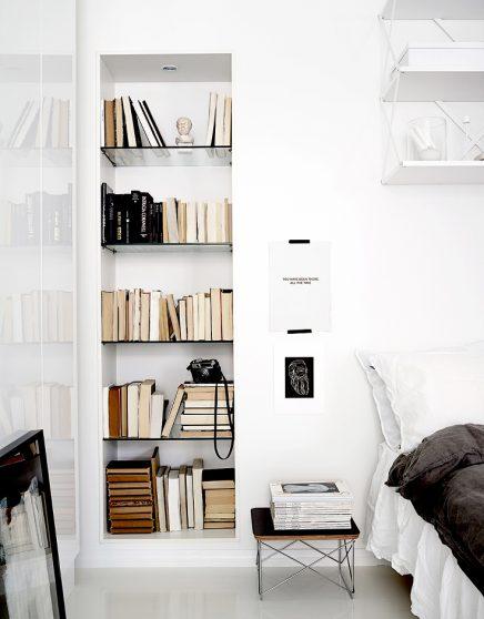 Bücher sortieren nach Farbe | Wohnideen einrichten