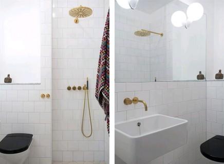 Chic Badezimmer Design | Wohnideen Einrichten Badezimmer Schwarz Wei Gold