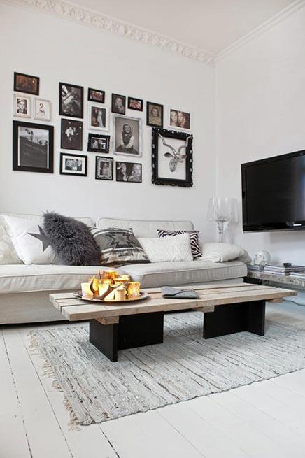 Cozy weißen Wohnzimmer aus Schweden