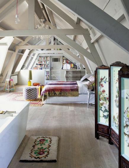 Dachgeschoss Schlafzimmer der ehemaligen Garage | Wohnideen einrichten