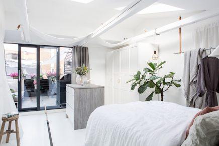 dachgeschoss schlafzimmer mit begehbarem kleiderschrank und balkon terrasse wohnideen einrichten. Black Bedroom Furniture Sets. Home Design Ideas