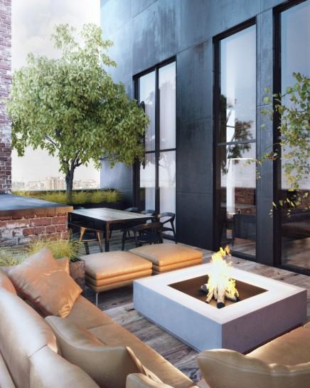 dachterrasse oder balkon wohnideen einrichten. Black Bedroom Furniture Sets. Home Design Ideas