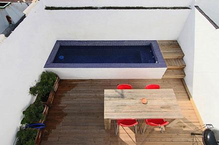 Dachterrasse mit kleinem Pool