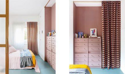 Diese kleine Wohnung von 60m2 ist super schön mit viel Farbe ...