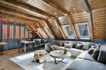 Diese rustikale Wohnung ist sehr stilvoll und gemütlich eingerichtet ...