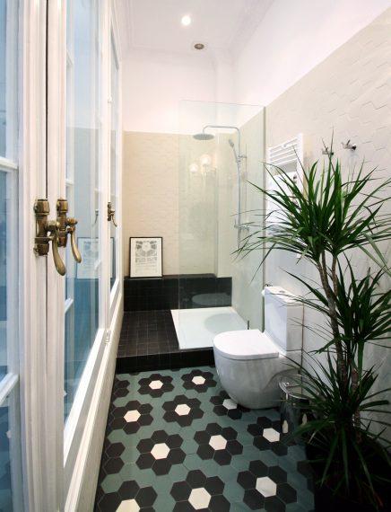 Dieses schöne Badezimmer hat einen Retro-Look!   Wohnideen ...