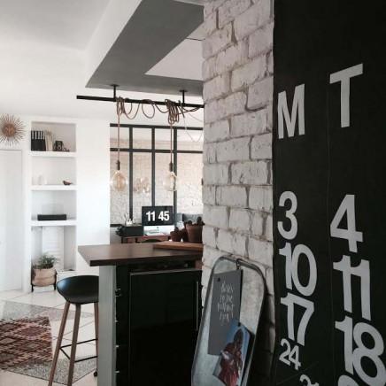 diy industrie trennwand aus holz wohnideen einrichten. Black Bedroom Furniture Sets. Home Design Ideas