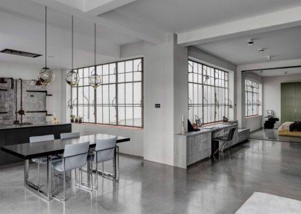 Ein Einblick In Die Industrielle Loft Wohnung Von