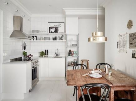 Einfache schöne Styling für den Verkauf der schwedischen Wohnung ...