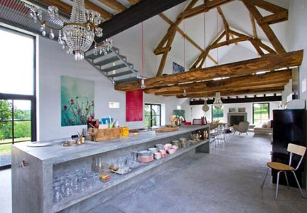Einrichtung Bauernhaus in Burgund Frankreich