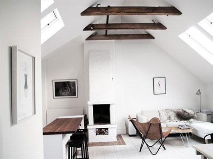 Einrichtung kleine Dachboden in Stockholm