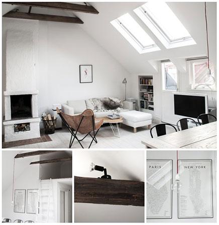 einrichtung kleine dachboden in stockholm wohnideen einrichten. Black Bedroom Furniture Sets. Home Design Ideas
