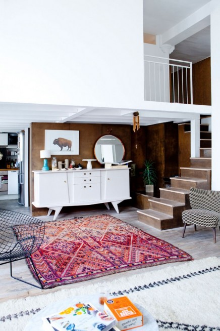 Exotische Loft Wohnzimmer Franzosisch Tapetendesigner Cecile Figuette (4)