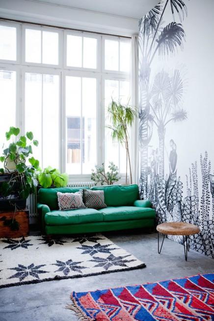exotische-loft-wohnzimmer-franzosisch-tapetendesigner-cecile-figuette