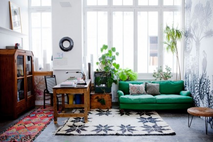 AuBergewohnlich Exotische Loft Wohnzimmer Franzosisch Tapetendesigner Cecile Figuette (6)