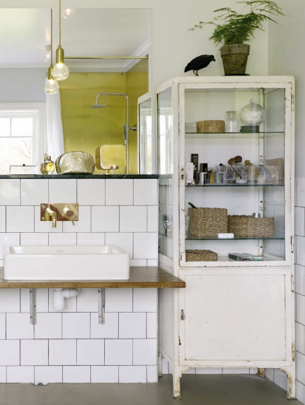flie estriche und halb verputzte w nde im badezimmer wohnideen einrichten. Black Bedroom Furniture Sets. Home Design Ideas