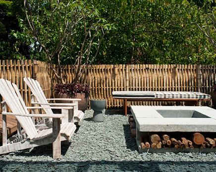 Garden Ideen mit Bambus und Kies
