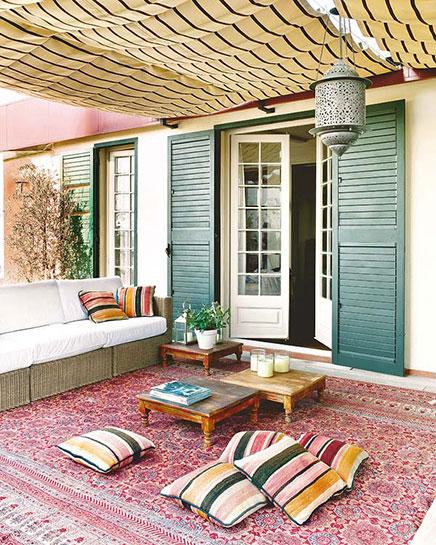 Garten mit marokkanischen Einflüssen