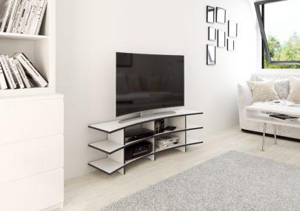 gebogene tv an der wand wohnideen einrichten. Black Bedroom Furniture Sets. Home Design Ideas