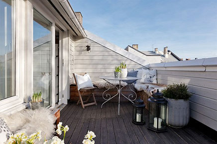 Gemütliches sonnigen Balkon