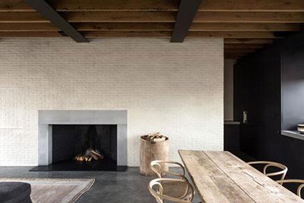 Gemütliches Wohnzimmer mit Industrielle details