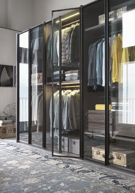 Kleiderschrank Mit Glasturen Home Ideen