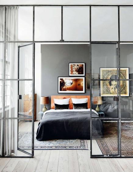 Glaswand mit Industrierahmen im Wohnzimmer | Wohnideen ...
