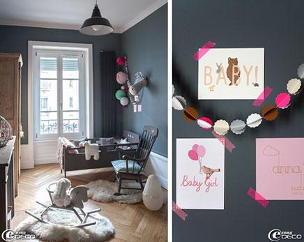 Grau Kinderzimmer in einer charmanten Altbauwohnung